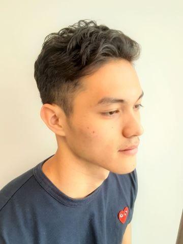 男性 50 くせ毛 代 髪型