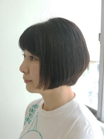 2019年冬】50代に似合う前下がりボブの髪型[ヘアカタログ・ヘア